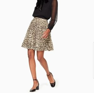 Kate Spade Clipped Dot Leopard Skirt size 12